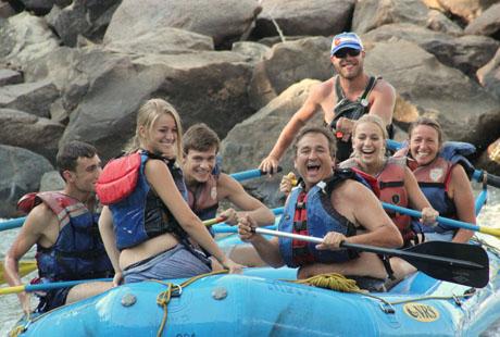 Family on River Raft Trip