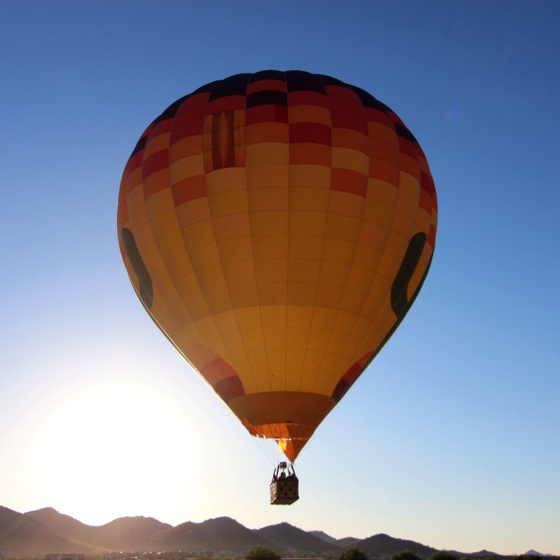 Hot Air Balloon in front of Sunset