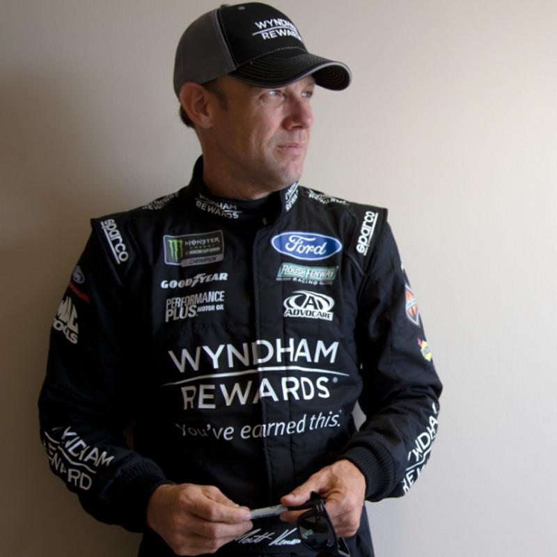Thumbanil for Matt Kenseth #6 Wyndham Rewards Autographed Team Hat
