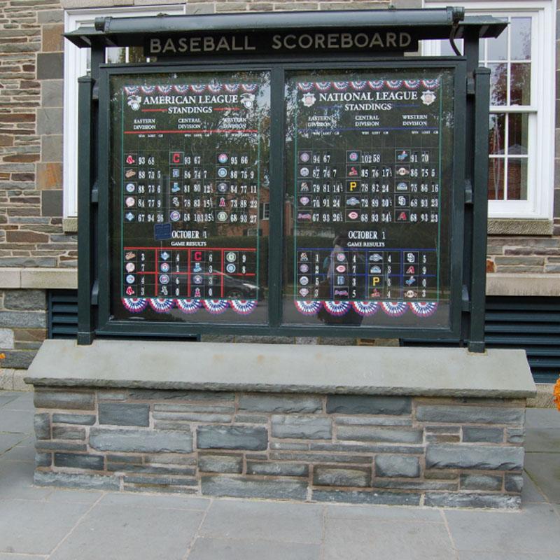Baseball Scoreboard inside the National Baseball Hall of Fame